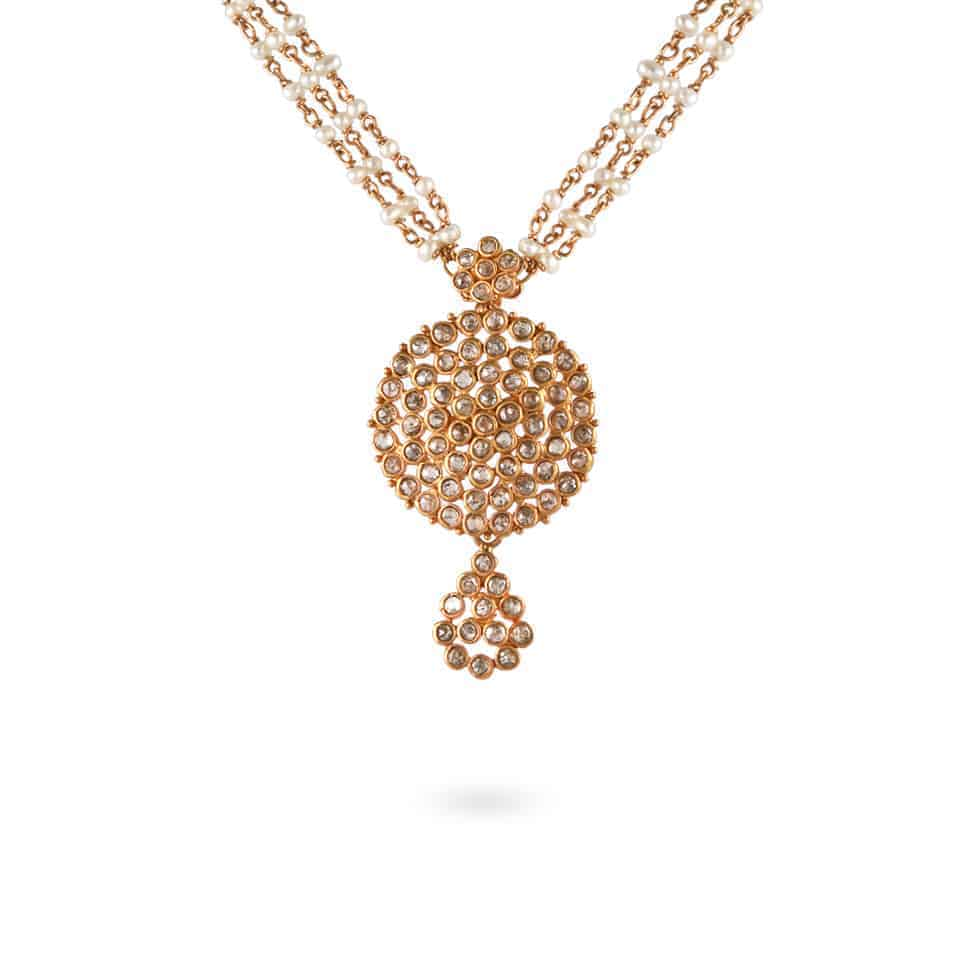 23685 - Diya 22ct Uncut Polki Diamond Necklace