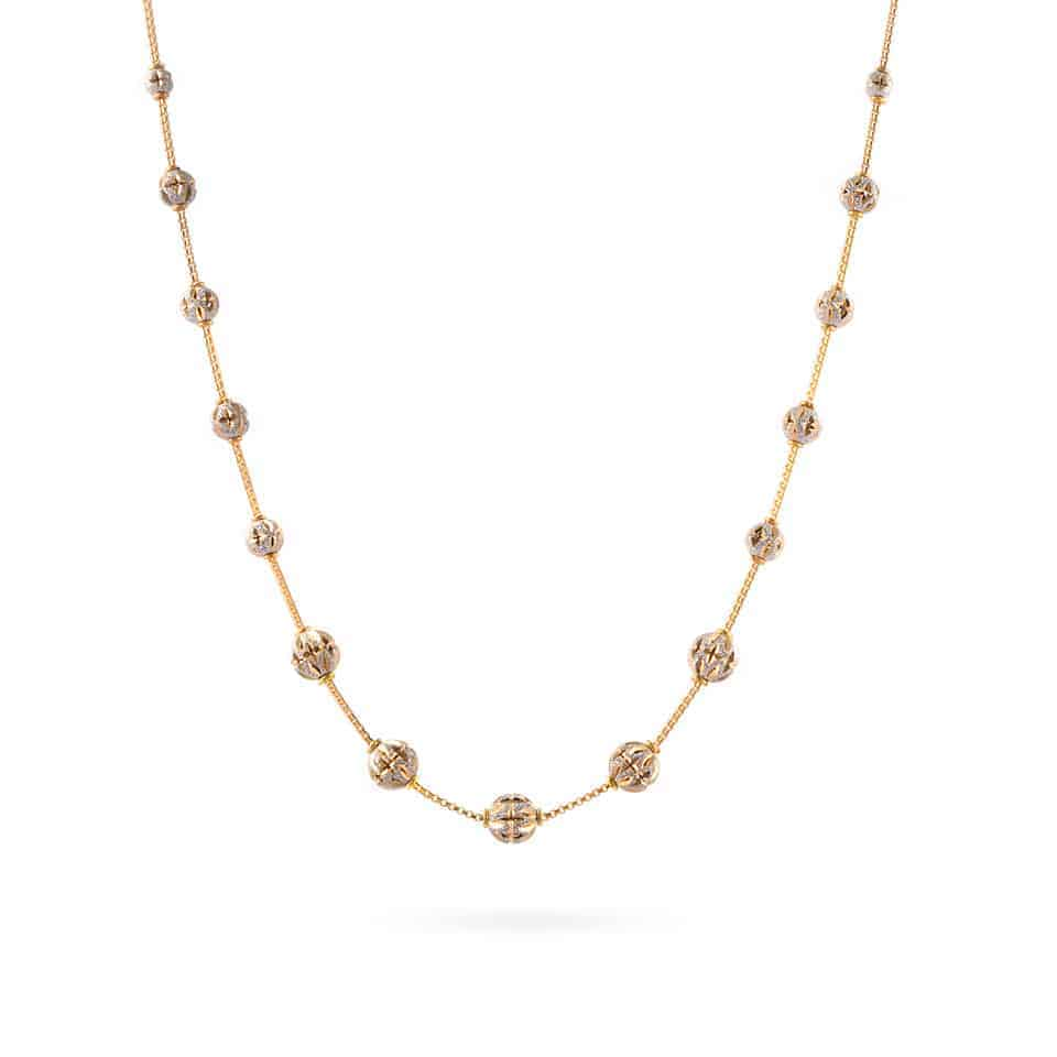 30406 - 22ct Yellow Gold Sparkle Necklace