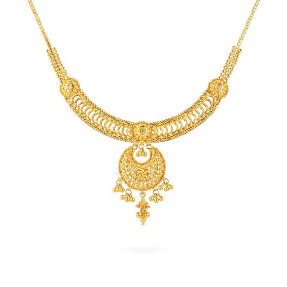 24330 - Jali 22ct Gold Filigree Necklace