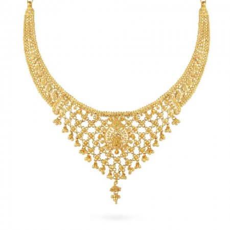 24753 - 22ct Gold Jali Filigree Necklace
