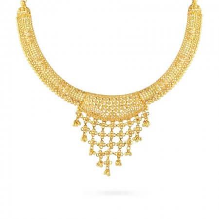 24755 - Jali 22ct Gold Filigree Necklace