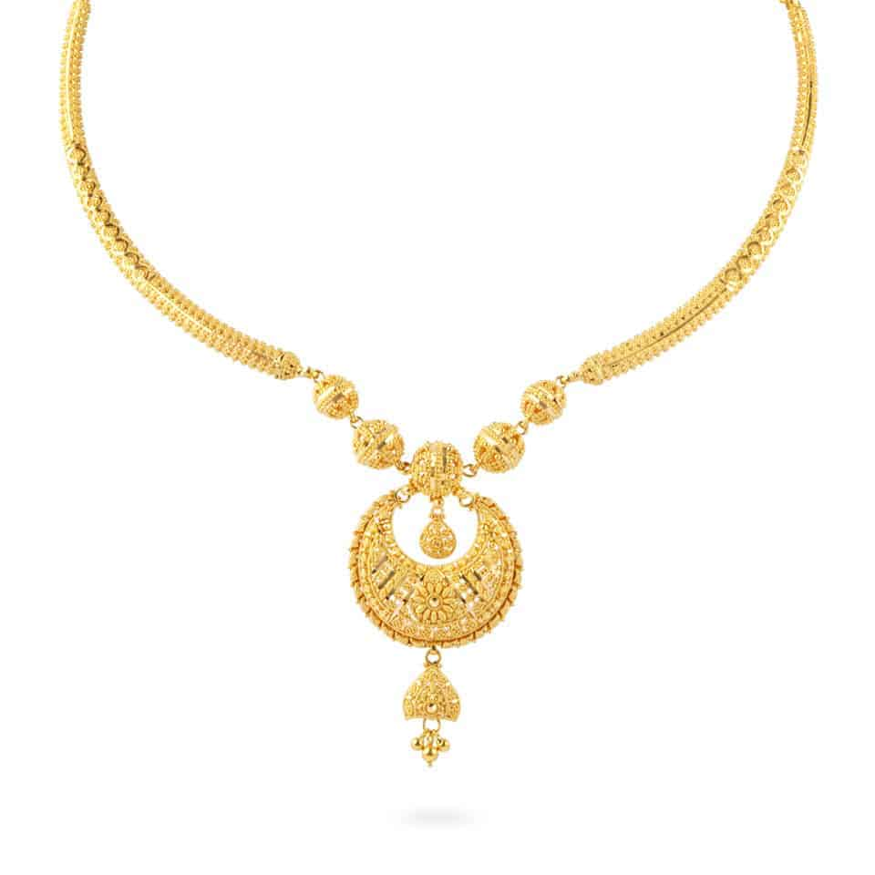 24979 - Jali 22ct Gold Filigree Necklace