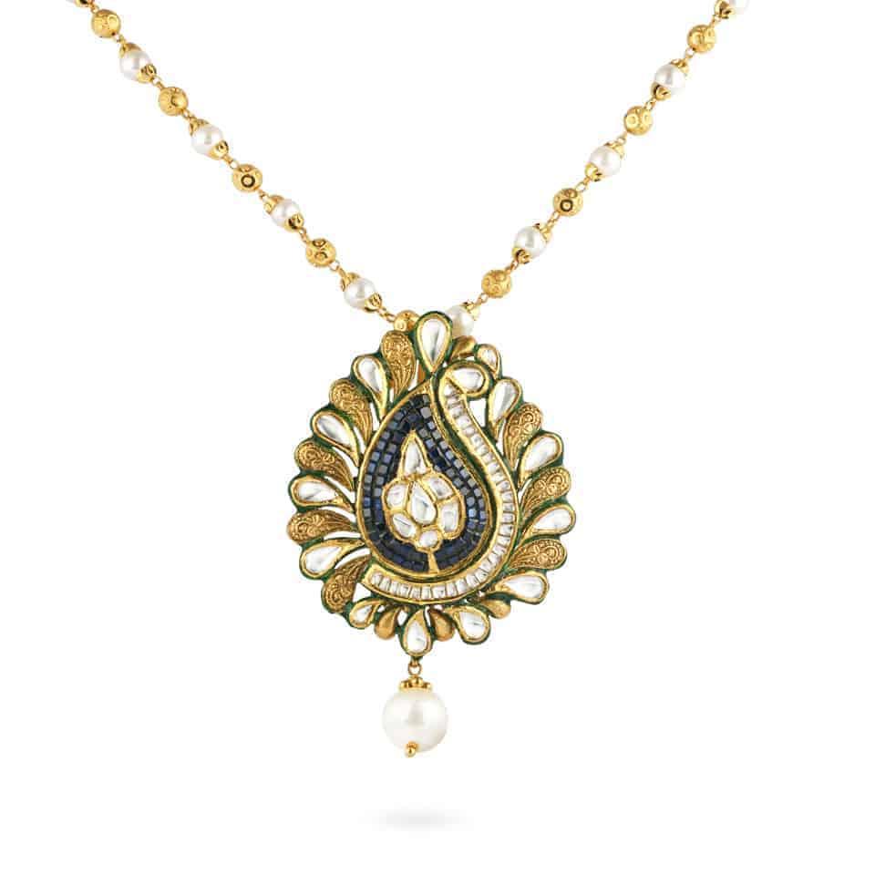 31875 - 22ct Gold Kundan Pendant