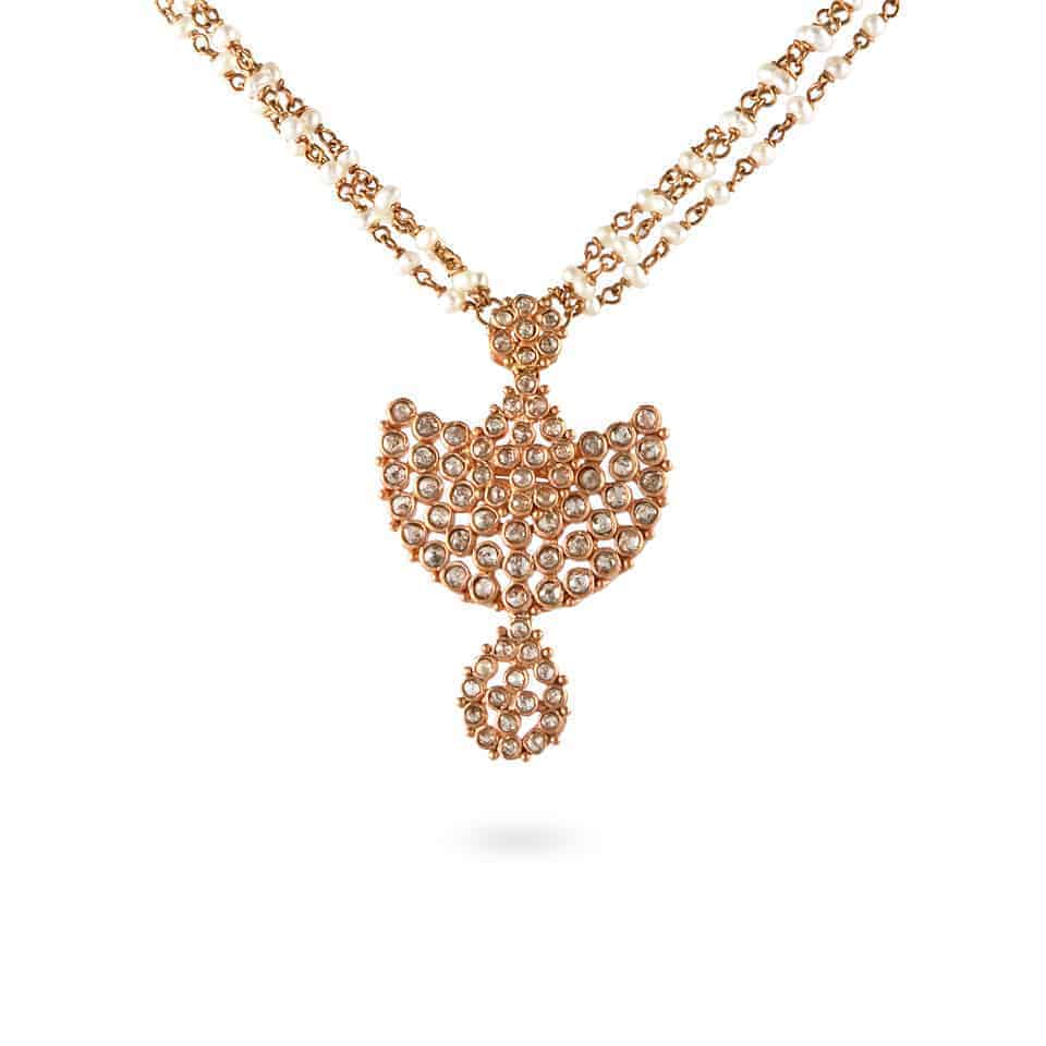 23677 - Diya 22ct Uncut Polki Diamond Necklace