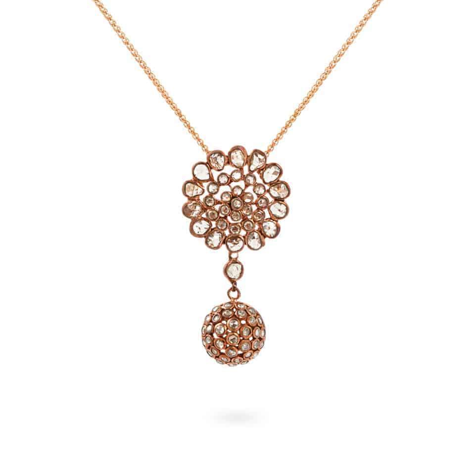 23762 - Diya 18ct Uncut Polki Diamond Pendant