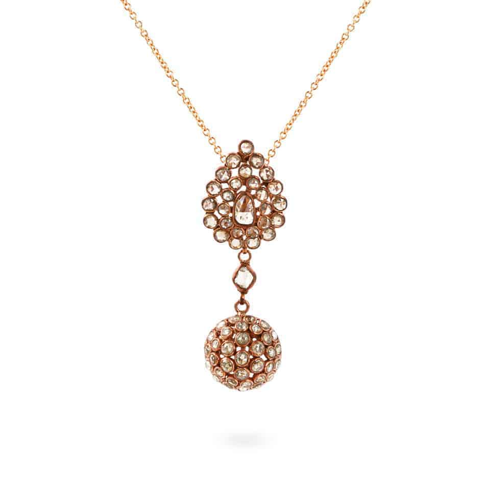 23761 - Diya 18ct Uncut Polki Diamond Pendant