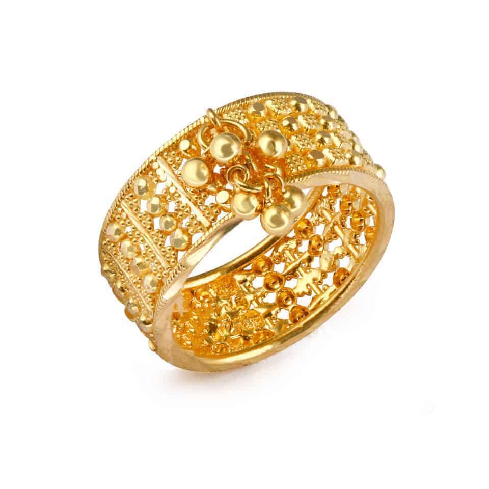 24200 - Jali 22ct Gold Filigree Ring