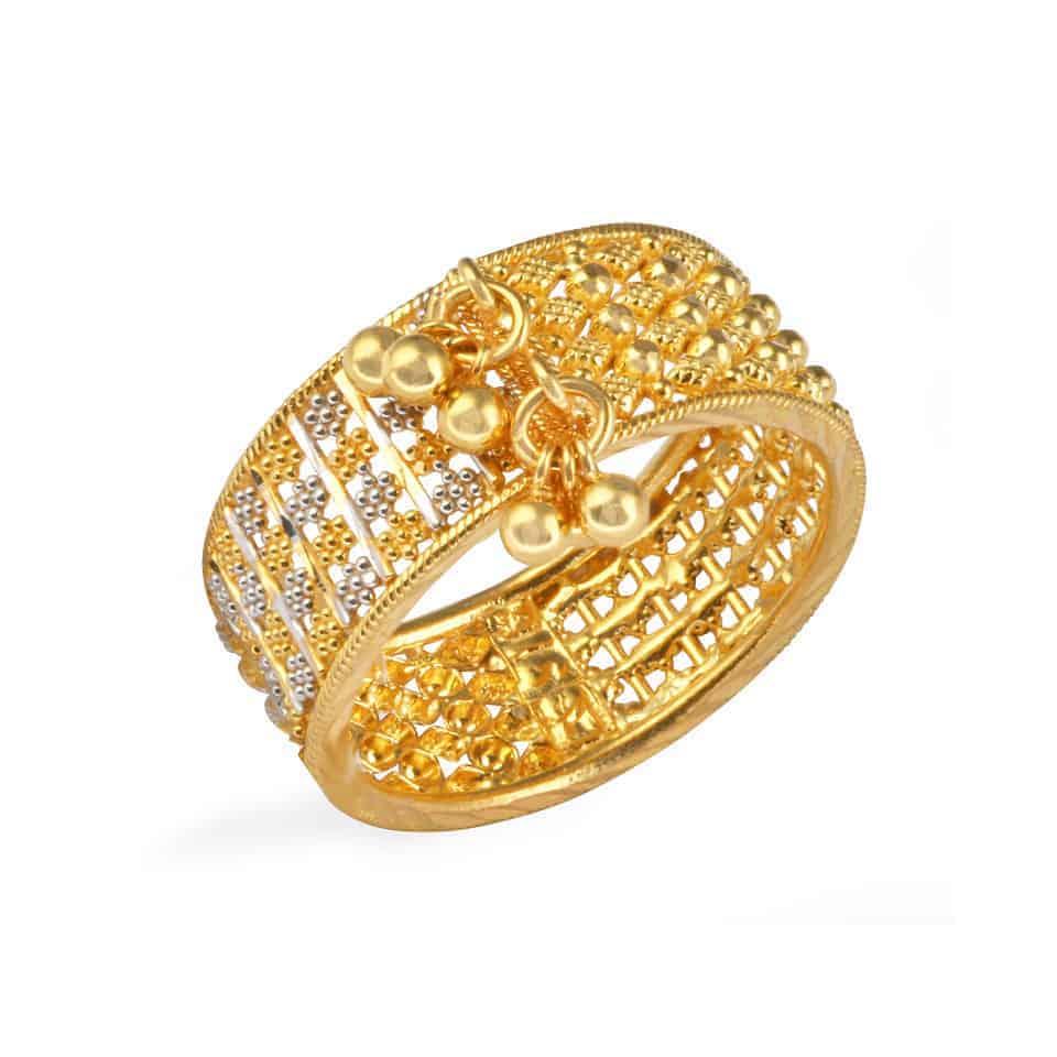24965 - Jali 22ct Gold Filigree Ring
