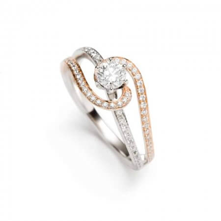 6373 - Swirl Diamond Ring