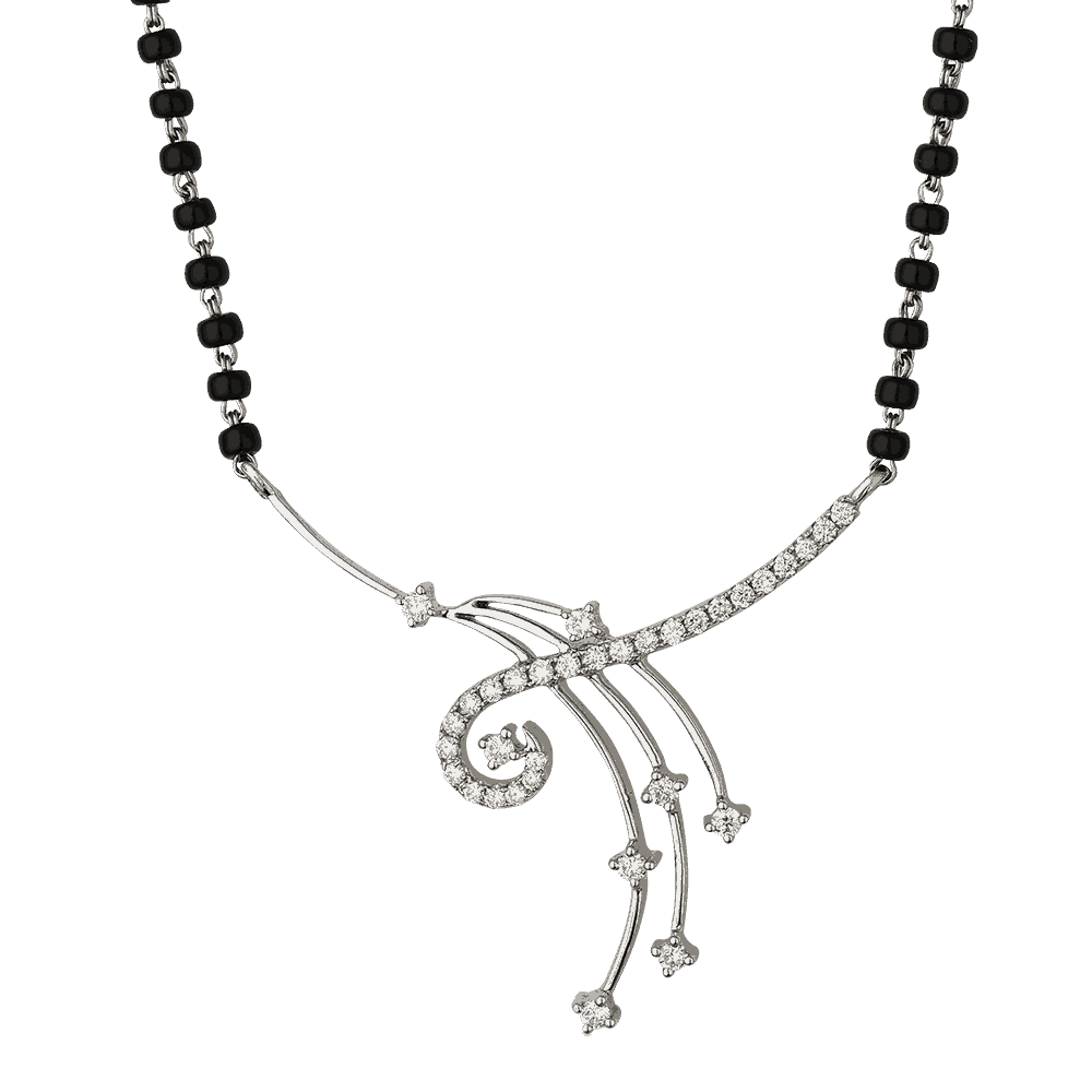 22888 - 18ct White Gold Diamond Mangalsutra