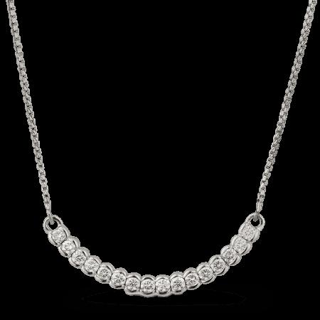 23772 - 18k White Gold Diamond Necklace