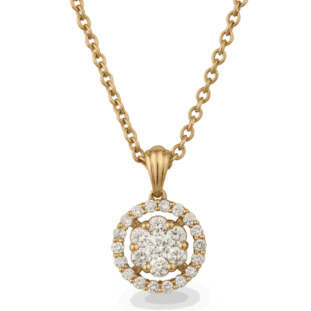 25700 - 18ct Diamond Pendant