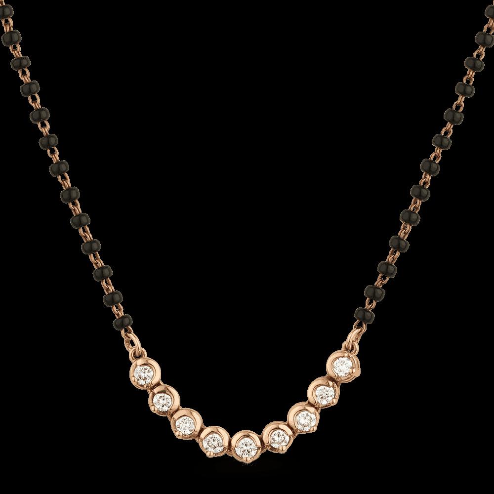 25811 - 18ct Rose Gold Diamond Mangalsutra