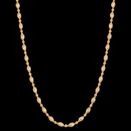 25852 - 22ct Gold Diamond Cut Necklace