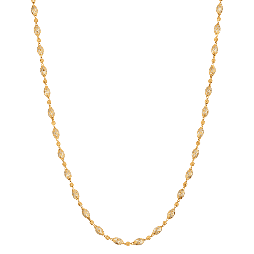 25852 - 22ct Gold Diamond Cut Necklace