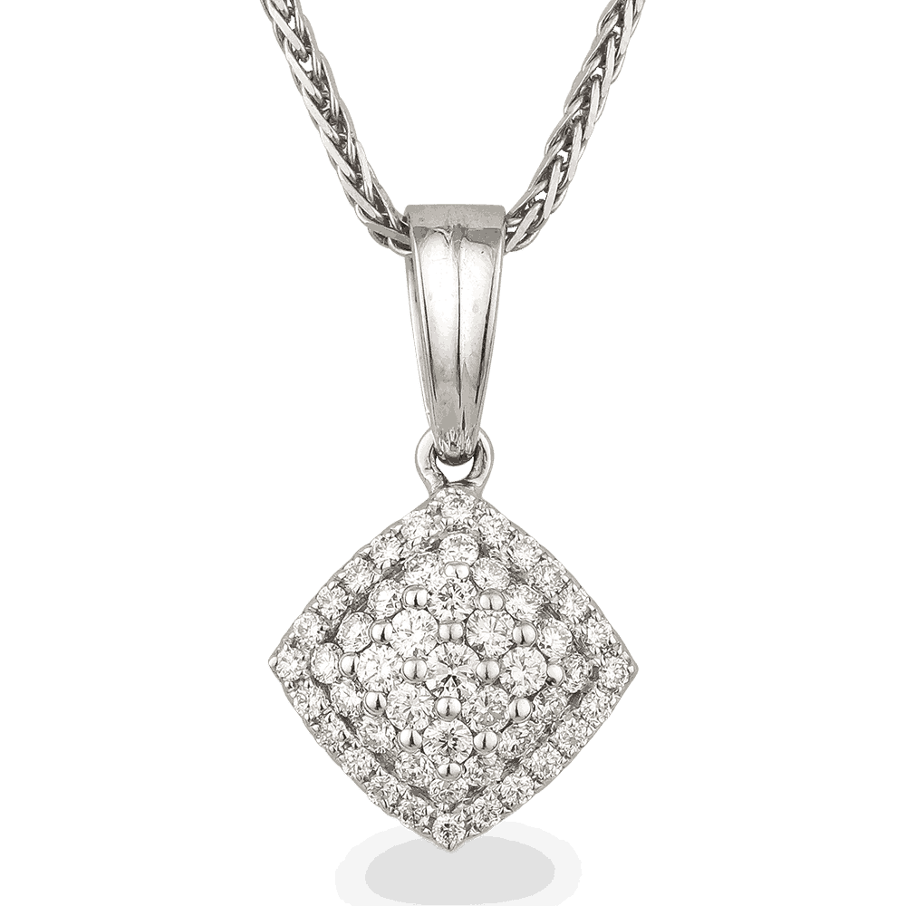 24271 - 18ct White Gold Pendant