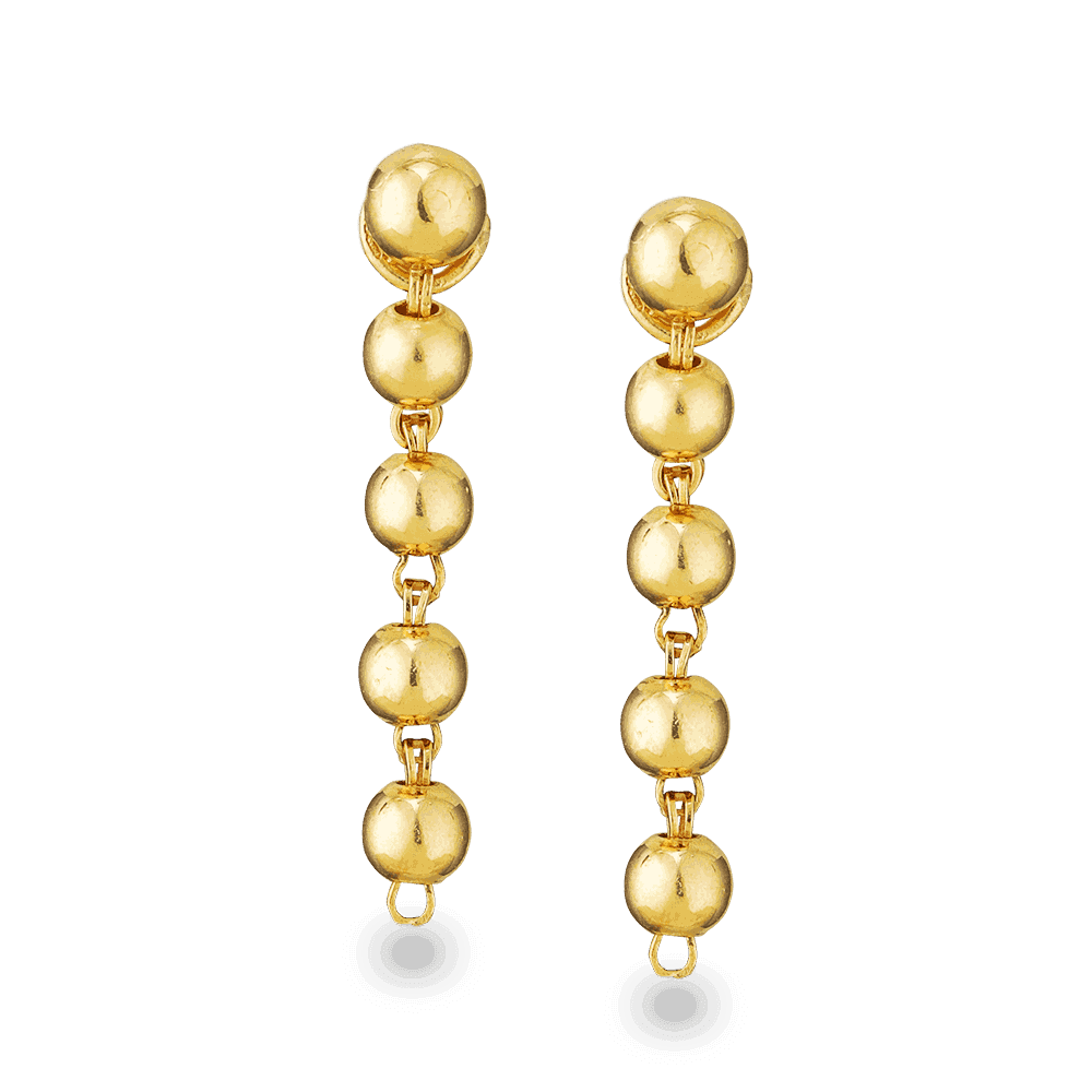 25014 - 22ct Gold Bauble Earrings