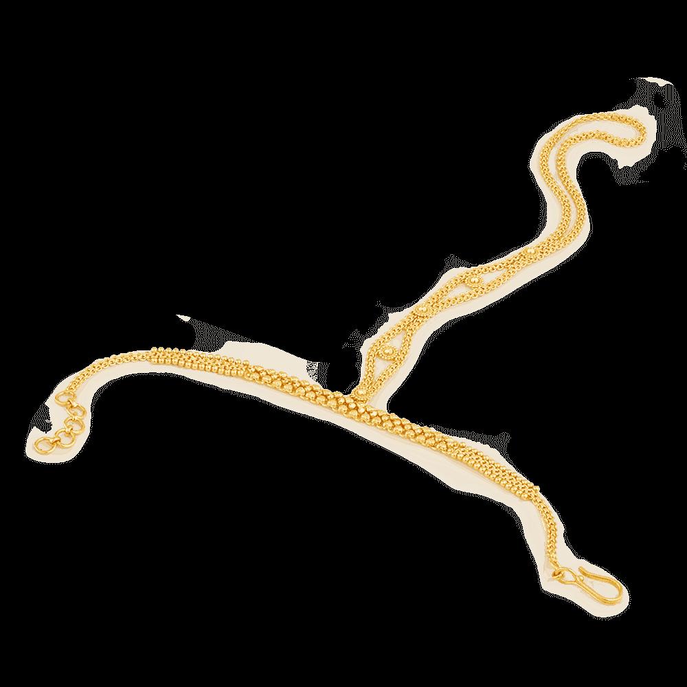 25511 - 22ct Gold Filigree Poncha Bracelet