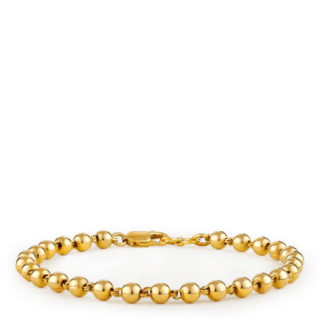 26703 - 22ct Gold Bead Bracelet