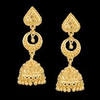 31988 - 22ct Gold Jumkha Earrings