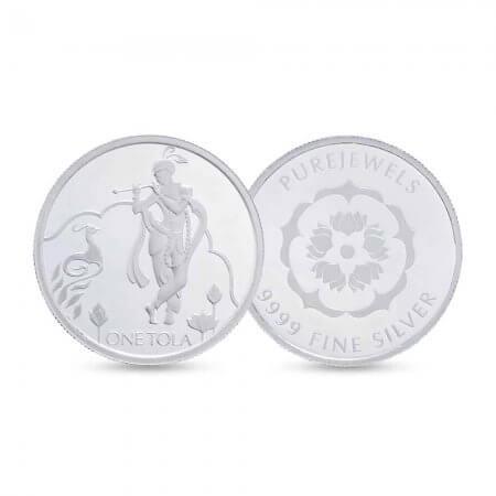 27133krish - PureJewels' Krishna Silver Tola
