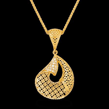 - 22ct Gold CZ Pendant