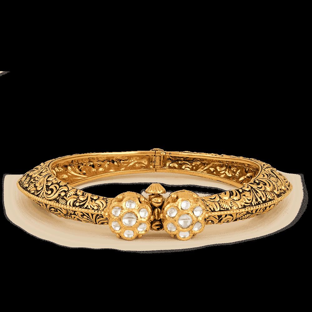 20690 - 22ct Gold Dancing Ball Bangle