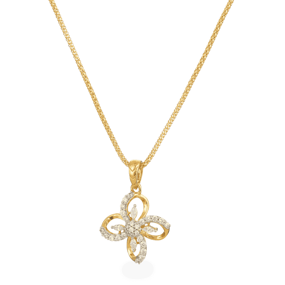 22ct Gold Flower Pendant - £180.00 (SKU:26554)
