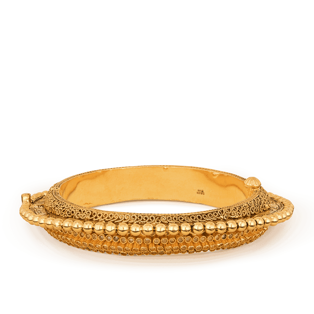 20690 - 22ct Gold Dancing Ball Bangle