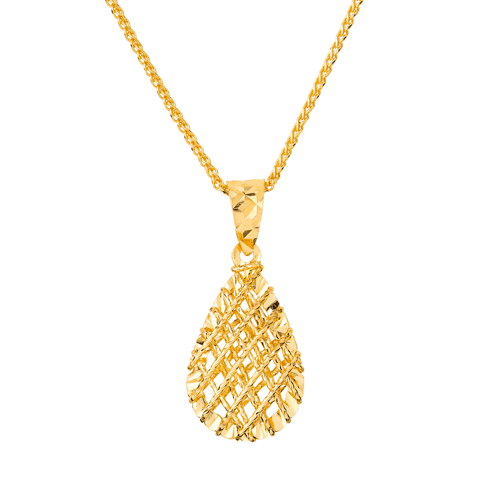 26723-2 - 22ct Gold Jali Pendant
