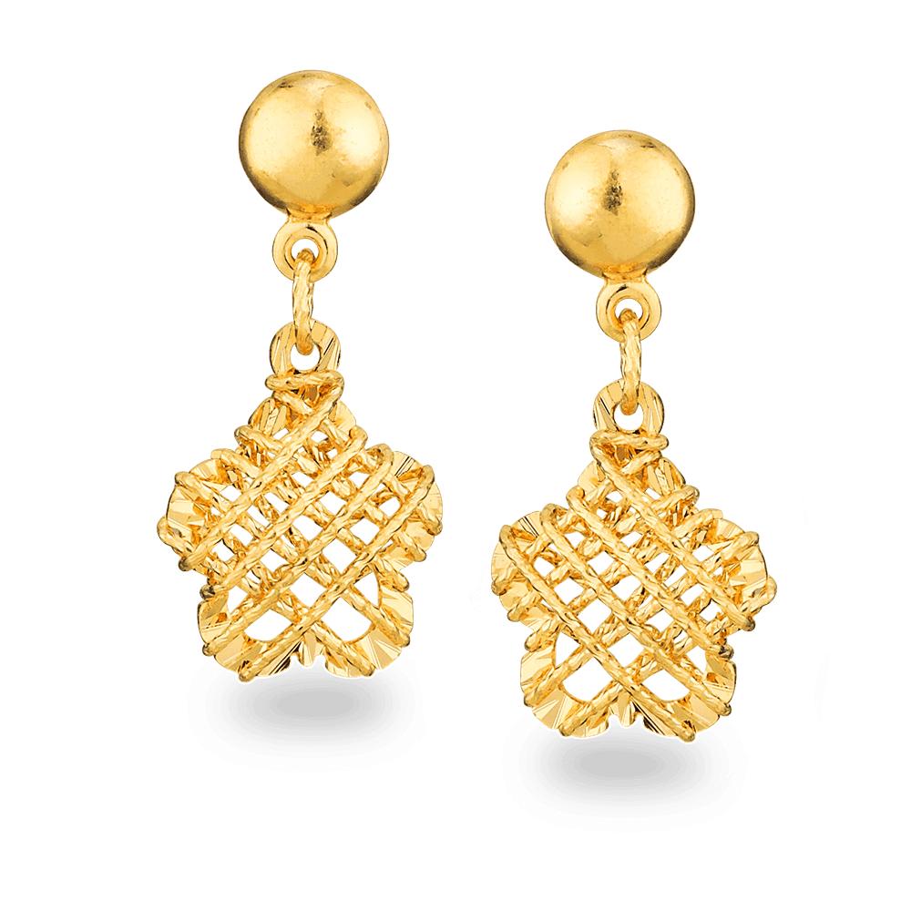 26725 - 22ct Gold Jali Earrings