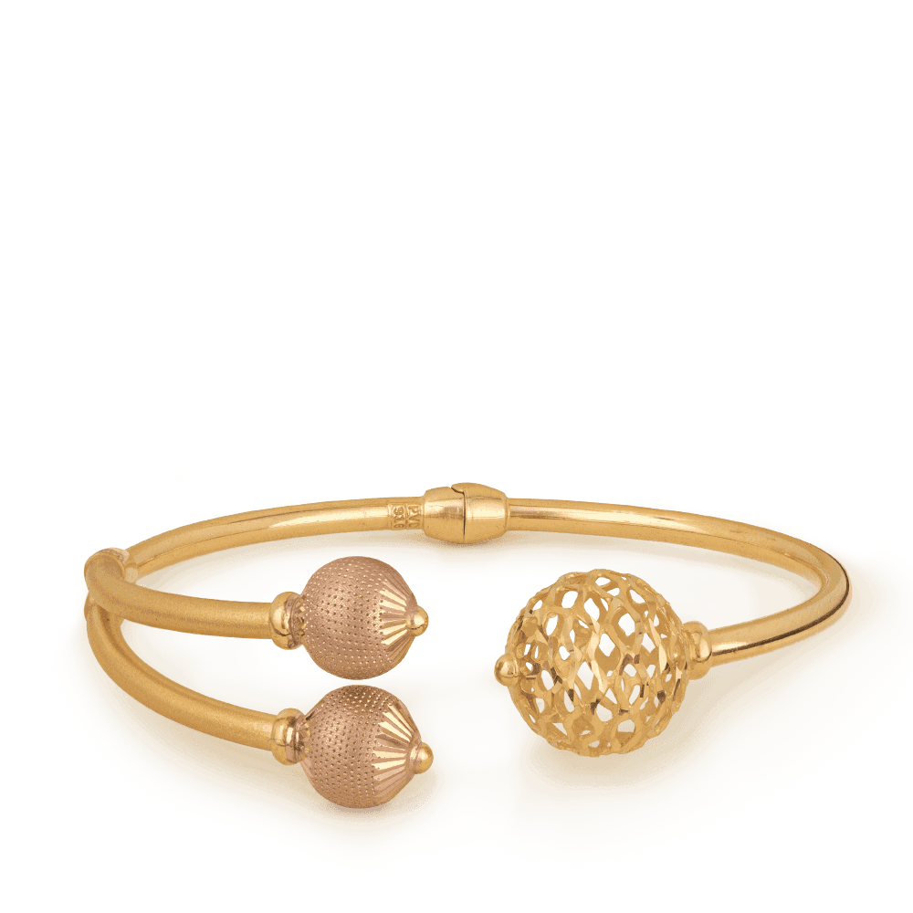 26865 - 22ct Gold SPARKLE Bangle Bracelet