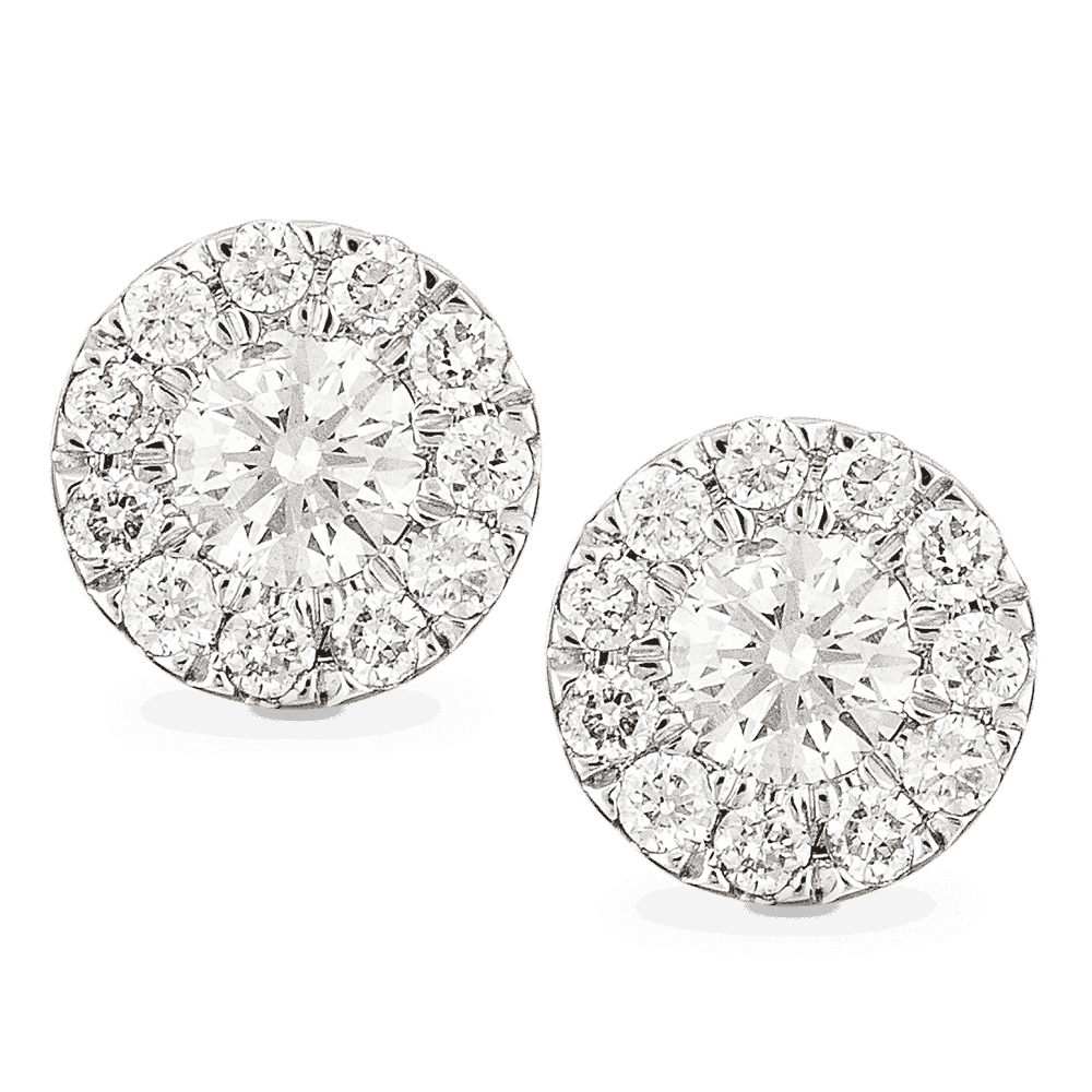 26988 - 18ct Gold Diamond Earstuds