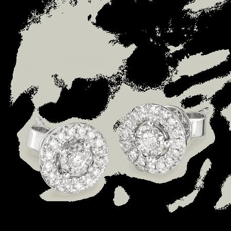 26988 - 18ct Gold Diamond Earstuds