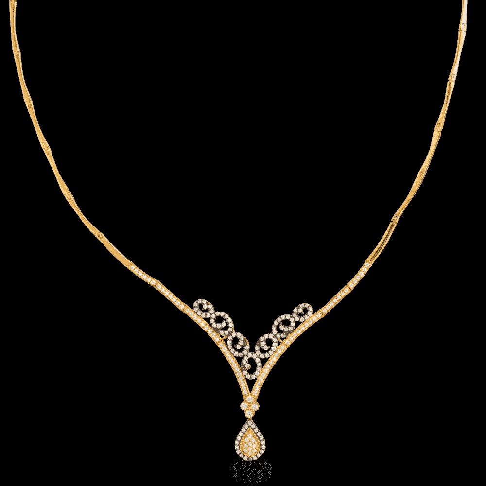 27017 - 22ct Gold Teardrop Glow Necklace