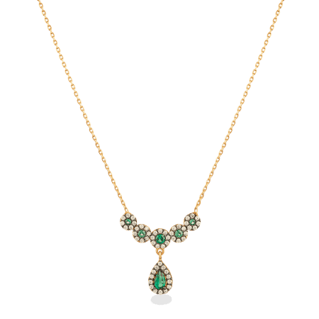 27036 - 22ct Gold Teardrop Necklace