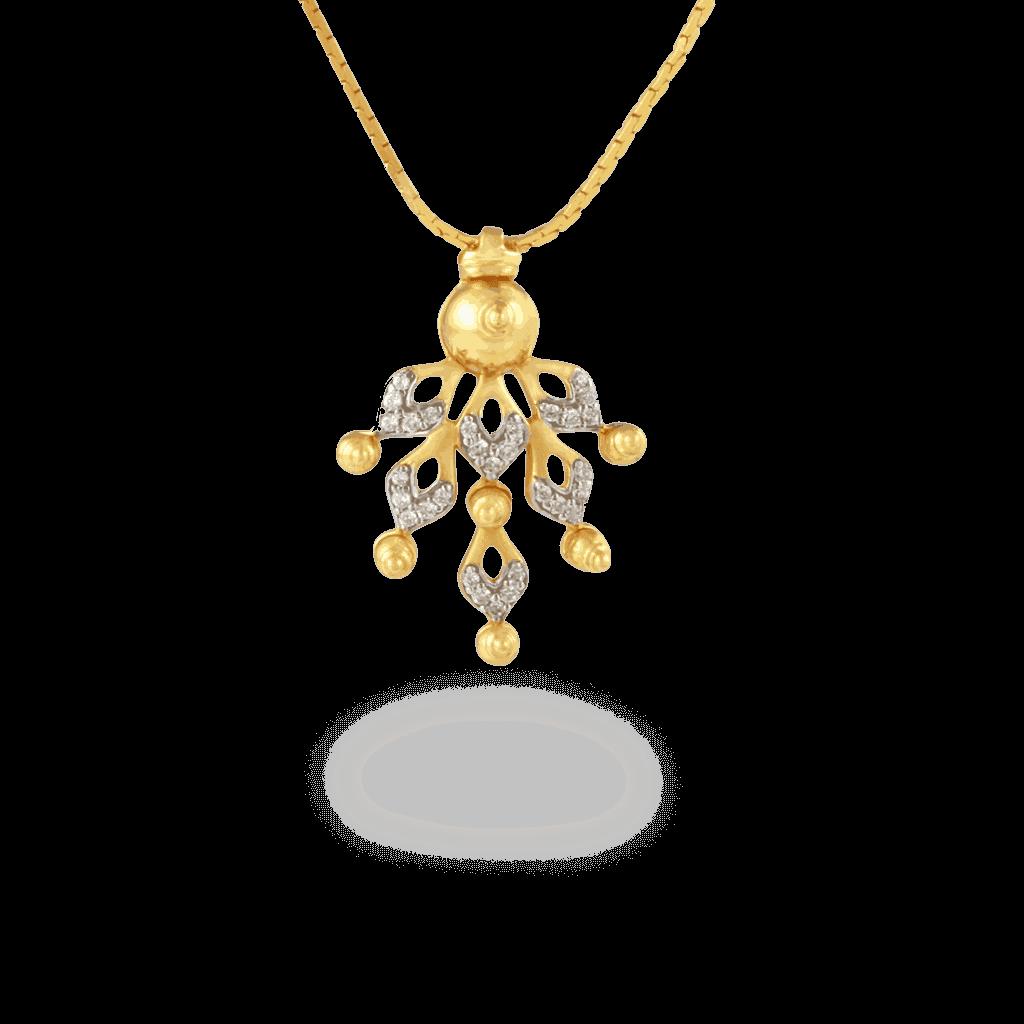 9775 - 22ct Gold Divine CZ Pendant