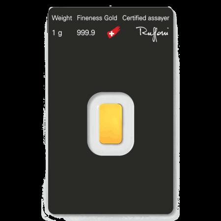 1gm goldbar - 1.0 Gram Fine Gold Bar in 24ct