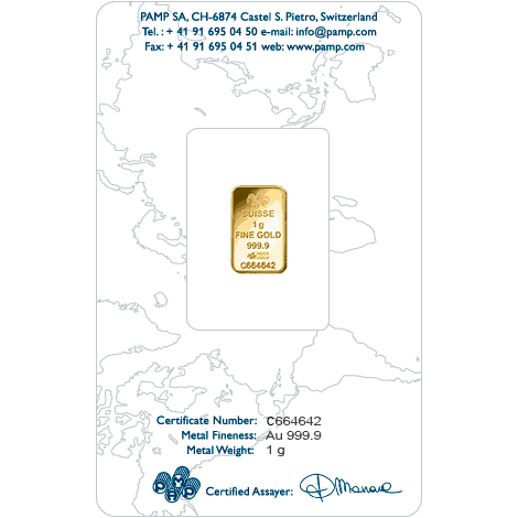 1gm Gold 999.9 Bar