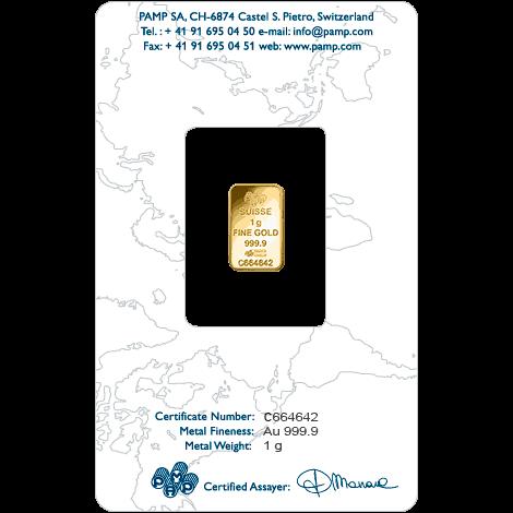 1gm Gold 999.9 Bar