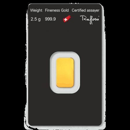 2.5gm gold bar