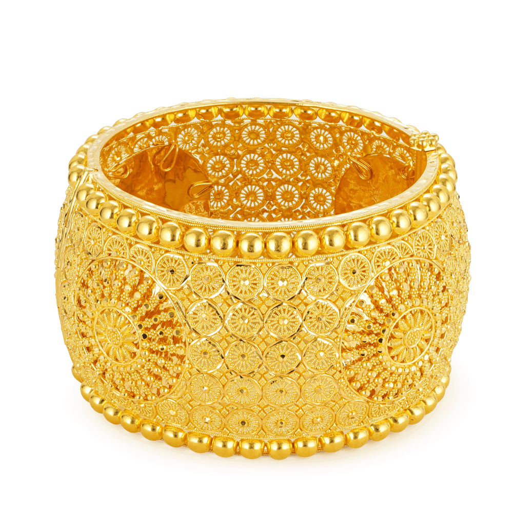 - 22ct Gold Bangle Kada Cuff