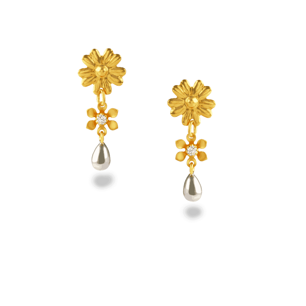 - 22ct Gold Daisy Earrings