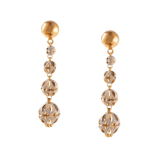 - Sparkle 22ct Gold Drop Earrings