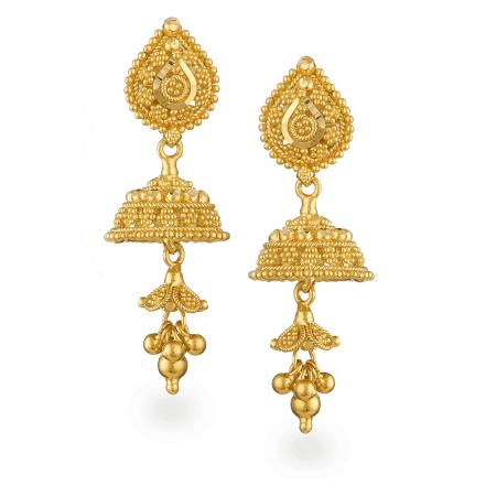 24327 - 22ct Gold Filigree Earrings