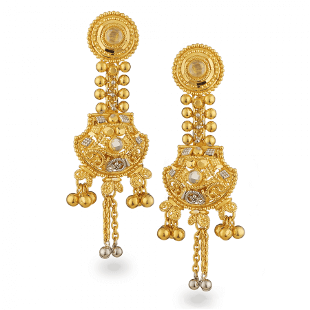 25205 - 22ct Gold Filigree Earrings
