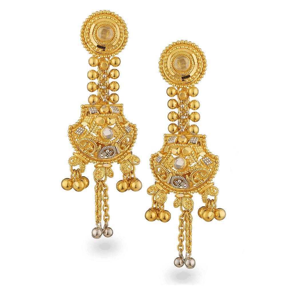 25205 - 22ct Gold Filigree Earrings