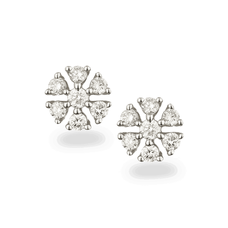 - 18ct Diamond Cluster Earstud