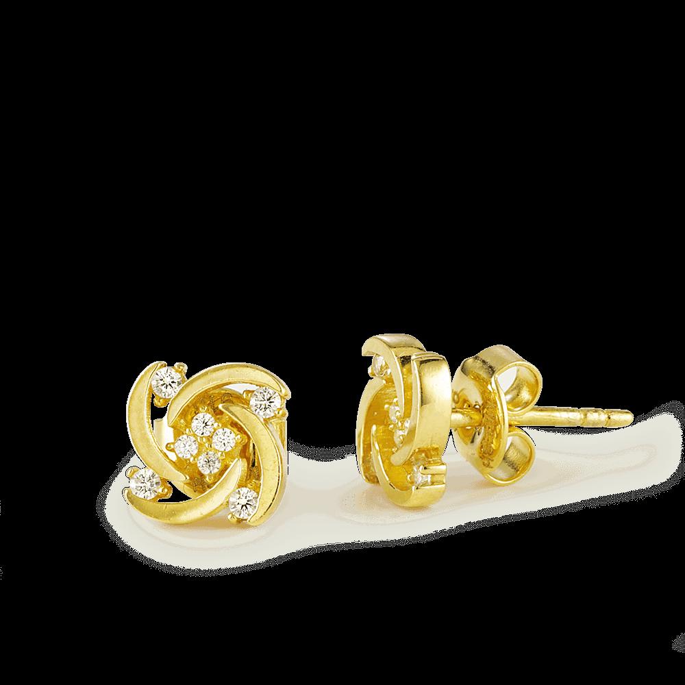 26301 - 22ct Gold CZ Stud