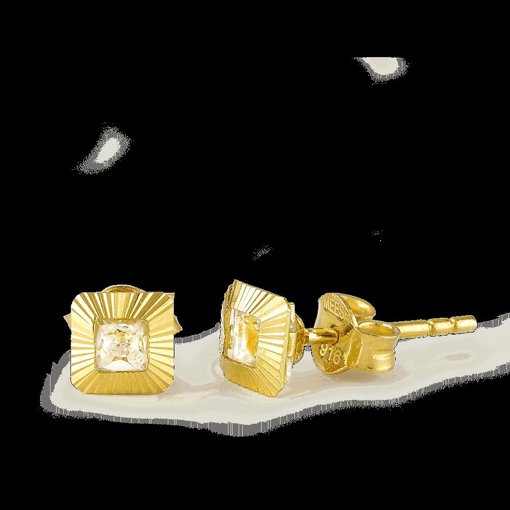 26305 - 22ct Gold CZ Stud